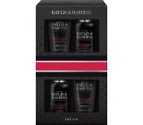Baylis & Harding Men Černý pepř a Ženšen mycí gel na obličej 100 ml + mycí gel na tělo a vlasy 100 ml + balzám po holení 50 ml + sprchový gel 50 ml, kosmetická sada