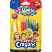 Colorino Barvy na obličej v násadce 6 barev