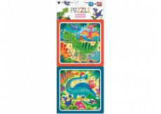 Puzzle Dinosauři 15 x 15 cm, 16 a 20 dílků, 2 obrázky