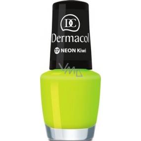 Dermacol Neon Polish Neonový lak na nehty 17 Neon Kiwi 5 ml