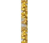 Nekupto Vánoční balicí papír zlatý Stříbrná mašle 2 x 0,7 m