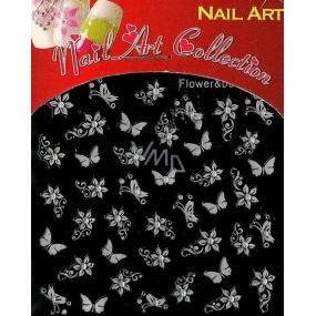Absolute Cosmetics Nail Art samolepicí 3D nálepky na nehty GS46 1 aršík