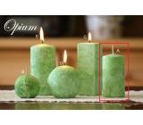 Lima Mramor Opium vonná svíčka zelená válec 50 x 100 mm 1 kus