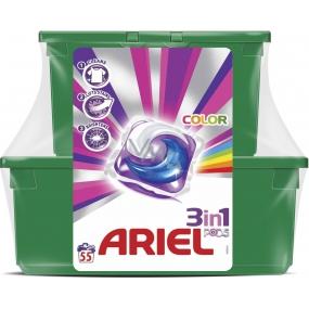 Ariel 3v1 Color gelové kapsle na barevné prádlo 55 dávek 23 kusů + 32 kusů
