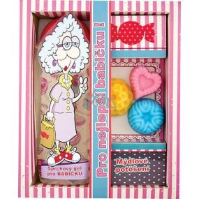 Bohemia Pro nejlepší babičku sprchový gel 300 ml + ručně vyráběné mýdlo 3 kusy, kosmetická sada