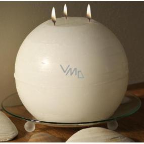 Lima Rustik svíčka bílá koule 3 knoty doba hoření cca 90 hodin 190 mm