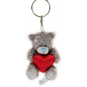 Me to You Medvídek s červeným srdcem plyšová klíčenka 7 cm