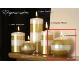 Lima Elegance White svíčka zlatá koule 80 mm 1 kus