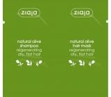Ziaja Oliva vyživující šampon pro regeneraci vlasů 7 ml + regenerační maska na vlasy 7 ml, sachet