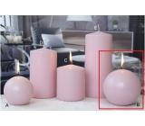 Lima Ice pastel svíčka růžová koule 100 mm