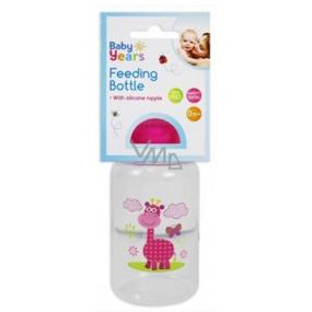 First Steps Safari 0+ kojenecká láhev Žirafa růžová 150 ml