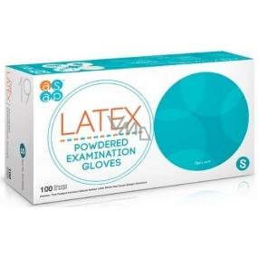 Asap Rukavice Latex jednorázové pudrované latexové velikost S box 100 kusů