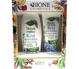 Bione Cosmetics Kozí syrovátka tělové mléko pro citlivou pokožku 500 ml + balzám na ruce 205 ml, kosmetická sada