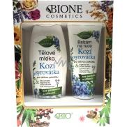 Bion Cosmetics Kozie srvátka telové mlieko 500 ml + balzam na ruky 200 ml, kozmetická sada