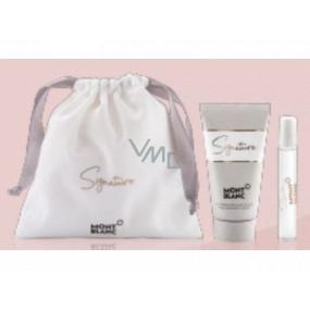 Montblanc Signature parfémovaná voda pro ženy 7,5 ml + tělové mléko 50 ml, dárková sada