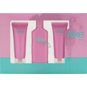Nike Sweet Blossom Woman toaletní voda 75 ml + sprchový gel 75 ml + tělové mléko 75 ml, dárková sada