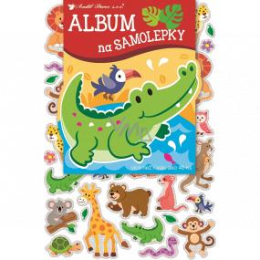 Album na samolepky hologram zvířátka 16 x 29 cm + 40 kusů samolepek