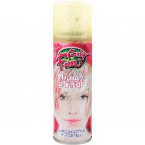 Glitter Glitry lak na vlasy a tělo zlatý sprej 125 ml