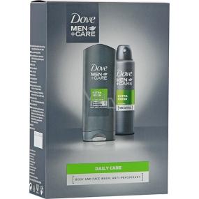 Dove Men + Care FM Extra Fresh Men Extra Fresh sprchový gel 250 ml + deodorant sprej pro muže 150 ml, kosmetická sada