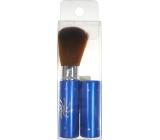 Kosmetický štětec na pudr s krytkou modrý 8,5 cm 30350
