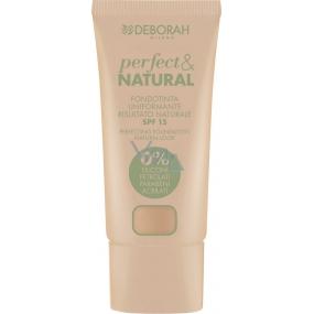Deborah Milano Perfect & Natural Foundation SPF15 make-up 01 Light Beige 30 ml