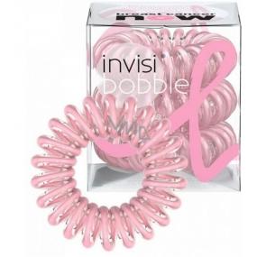 Invisibobble BCA Pink Power Sada Gumička do vlasů průhledná růžová spirálová 3 ks