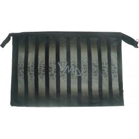 Etue Šedo-černé pruhy 27 x 18 x 7 cm 70270