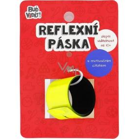 Albi Buď vidět! Reflexní pásek Aristoteles Žlutý, zvýší viditelnost až 10x