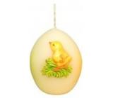 Vajíčko 60mm velikonoční zvířátka svíčka smetanová
