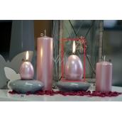 Lima Pastel svíčka metal světle růžová velké vajíčko 60 x 90 mm 1 kus
