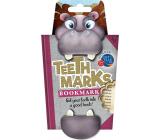 If Teeth Marks Bookmarks Zubatá záložka Hroch 97 x 17 x 200 mm