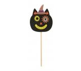 Kočka, z filcu zápich 9 cm + špejle