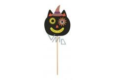 Kočka z filcu zápich 9 cm + špejle