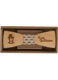 Bohemia Gifts Dřevěný motýlek Gentleman 12,5 cm