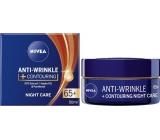 Nivea Anti-Wrinkle+Contouring noční krém pro zlepšení kontur 65+ 50 ml