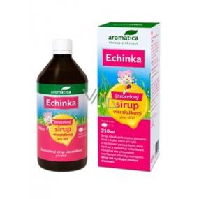 Aromatica Jitrocelový sirup Echinka pro děti posiluje horní cesty dýchací a usnadňují vykašlávání 210 ml