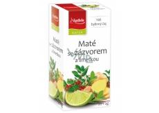 Apotheke Natur Maté se zázvorem a limetkou bylinný čaj napomáhá k trávení, dýchání a duševní pohodě 20 x 2 g