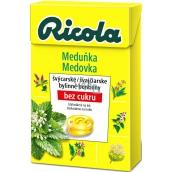 Ricola Zitronenmelisse - Meduňka švýcarské bylinné bonbóny bez cukru s vitamínem C z 13 bylin 40 g