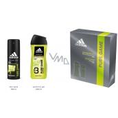 Adidas Pure Game deodorant sprej pro muže 150 ml + sprchový gel 250 ml, kosmetická sada