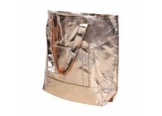 Albi Eko kabelka vyrobená z pratelného papíru laminace - zlatá 30 cm x 38 cm x 10,5 cm
