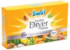 Swirl Tropical vonné ubrousky do sušičky 40 kusů