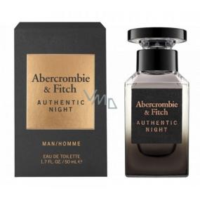 Abercrombie & Fitch Authentic Night Man toaletní voda pro muže 50 ml