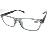 Berkeley Čtecí dioptrické brýle +1,0 plast šedé, černé postranice 1 kus MC2184