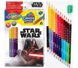 Colorino Pastelky trojhranné Star Wars oboustranné 24 barev