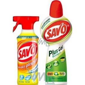 Savo Proti plísním koupelna 500 ml + Savo Plus Gel Eucalyptus 750 ml