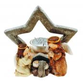 Betlém hvězda na čajovou svíčku 11,5 x 12 cm