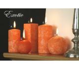 Lima Mramor Exotic vonná svíčka oranžová koule průměr 60 mm 1 kus