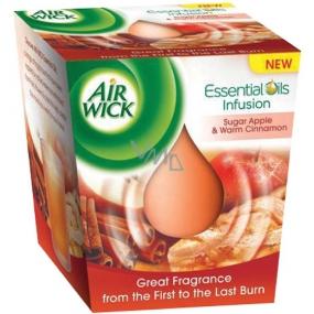Air Wick Essential Oils Infusion Sugar Červené jablko & Svařené víno vonná svíčka ve skle 105 g