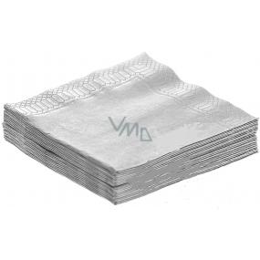 Party Papírové ubrousky barevné stříbrné 3 vrstvé 33 x 33 cm 20 kusů