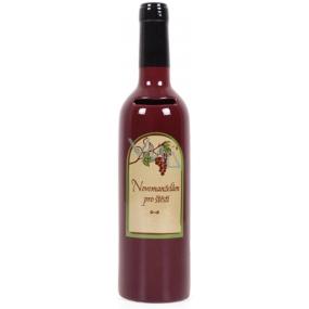 Albi Keramická pokladnička Vinná láhev Novomanželům pro štěstí